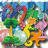 Karibik und Hawaii Partydeko Grundausstattung