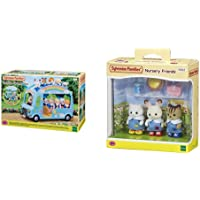 SYLVANIAN FAMILIES-Le Bus Arc-en-Ciel Animaux Mini-Univers, 5317, Multicolore & Nursery Friends Families Les Amies De…