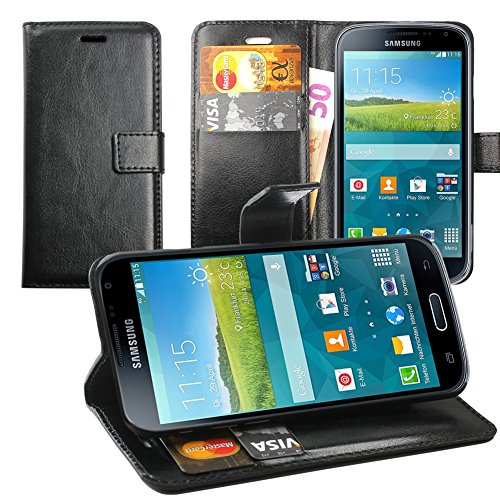 Original Lanboo® Wallet / Buch Tasche mit Magnetverschluss für Samsung Galaxy K Zoom - SM-C115 - Schwarz