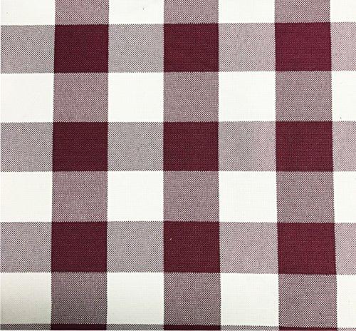 gfcc schwarz & weiß Gingham Karierte Tischdecke aus Polyester, rechteckig, Picknick Tischdecke, 70x 120-inch (180cm x 300cm), Polyester, Burgundy & White, 70x120-inch tablecloth (Checker Schwarz Tischdecke)
