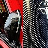 TUNING-GARAGE-3000 [13,14€/ m²] 50CM X 152CM Folie SELBSTKLEBEND Glanz LUFTKANÄLE Carbon 4D SCHWARZ + DEUTSCHE Anleitung