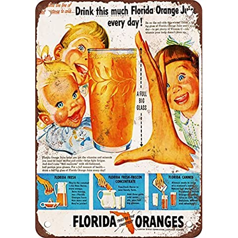 1950s Florida arance Look Vintage Riproduzione in