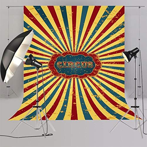nd,Zirkus Hintergrund Für Baby-Dusche-Bilder Kids Smash Cake Kinder Foto Geburtstag Fotografie Photo Booth Photo @ A_5X7Ft ()