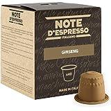Note D'Espresso, Ginseng, Capsule Compatibili Soltanto con sistema NESPRESSO*, 40 caps