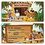 (10 x) Einladungskarten Kindergeburtstag Bauernhof Tiere Geburtstag Einladungen