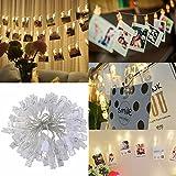 LEDMOMO LED Foto Clip Stringa Illuminazione,40 Foto Clips 5M  USB Alimentazione Luci LED Natale Per Appendere...