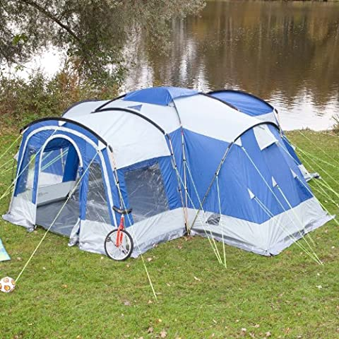 Skandika Nimbus 8 Person Familytent - Grey/Blue,