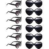 مجموعة إكسسوارات أعياد الميلاد المكونة من دستة من نظارات شمسية على شكل قلب
