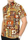 La Leela t-shirt hawaïen vintage décontracté bouton vers le bas ...