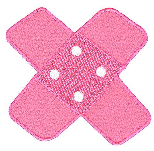 Hosenpflaster Pflaster Rosa Pink Aufnäher Bügelbild