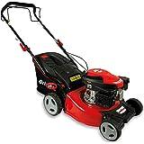 Grizzly Cortacésped de gasolina con tracción trasera (46 cm de ancho, ajuste de altura de corte, función de limpieza, ruedas