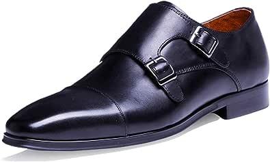 DESAI Mens Formal Shoes Double Buckle Monk