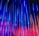JIANGJIE LED-Meteor-Regen-Laterne-Laterne-Weihnachtsdekorations-Licht-Im Freien Wasserdichte Helle Schnur-Buntes Meteor-Licht 30Cm Stellte Außenhandel Ein,Warmwhite