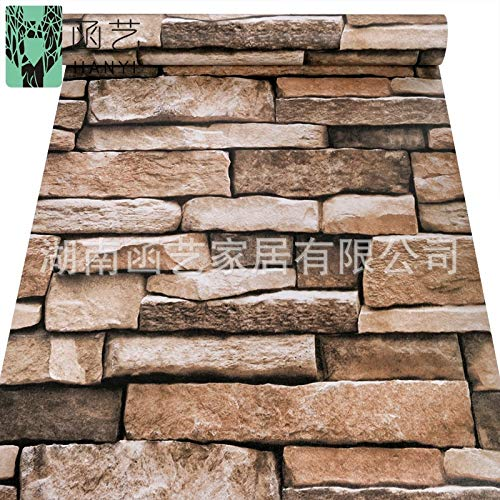 Wandtapete Retro Backsteinmauer Ziegelstein Ziegelsteintapete 10 m 0,45 * 10 m