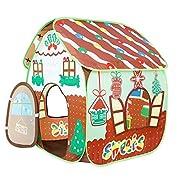 La tenda castello giocattolo Homfu per bambini con fantasia è un bellissimo regalo per compleanni e feste di neonati, bambini e bambine, anche a Natale e Capodanno, per farli giocare e divertire. La tenda castello giocattolo Homfu per bambini...
