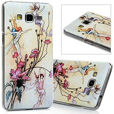 Samsung Galaxy Grand Prime G530H Funda - Lanveni® Chic Elegante Carcasa Rigida PC ultra Slim para Samsung Galaxy Grand Prime G530H G5308 Transparente Protective Case - Patrón Flor de hadas Diseño