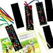 Scratch Art Bookmarks with Ribbons 17cm x 5cm for Children to Design (Pack of 12)