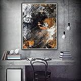 XIAOXINYUAN Fine Art Print Acrylbilder Abstrakte Schwarze und Weiße Wand Bilder Für Wohnzimmer Schlafzimmer Moderne Wohnkultur 70 X 100 cm Ohne Rahmen