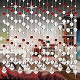 Kristall Glas Korn Vorhang HARRYSTORE Luxus Leben Zimmer Schlafzimmer Fenster Tür Hochzeit Dekor (B)