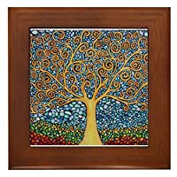 CafePress - My Tree Of Life - Framed Tile, Decorative Tile Wall Hanging