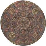 Esprit - Handtuft Mandala - taupe - 100 x 100 cm