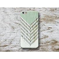 Grün Chevron Holz Print Hülle Handyhülle für iPhone 4 4s 5 5se se 5C 5S 6 6s 7 Plus iPhone 8 Plus iPod 5 6