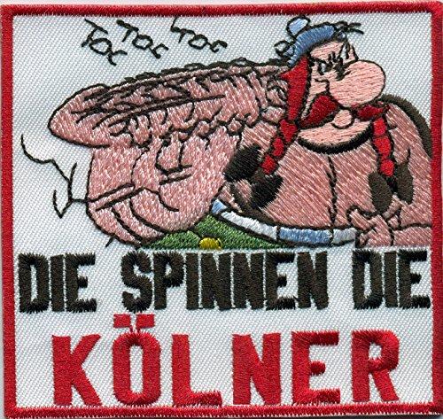 Die Spinnen Die Anti KOELNER Obelix Fussball Fanclub Kutte Aufnäher Patch