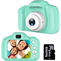 Kids Digital Video Camera for Boys Age 3-8, Mini Rechargeable Children Camera Shockproof 8MP HD Toddler Cameras Child…