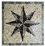 RO-007 90 x 90 cm Marmor Rosone mediterran Einleger Mosaikfliesen Bild Dekoration Stein-Mosaik Fliesen Lager Verkauf Herne NRW