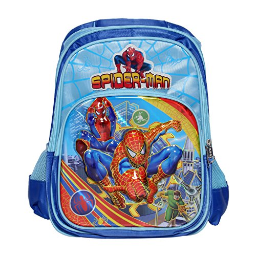Belomoda Emboss Cartoon Theme Printed Nylon School Bag – Blue