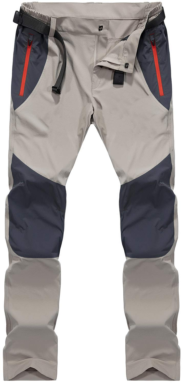 61u7XvPFQkL - TACVASEN Men's Lightweight Sport Walking Trousers Outdoor Hiking Pants with Zipper Pockets