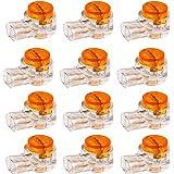 200 Piezas K1 Conectores de Empalme a Tope Conector de Cable Conectores de Cable Eléctrico UY Conector de Gel de Empalme a To