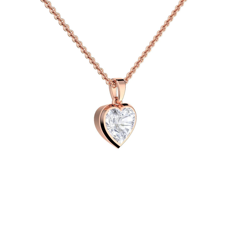 Herzkette Rosegold vergoldet Schmuck Damen Kette ❤ Halskette Rose Zirkonia  Stein Damenkette Geschenk Etui mit 36a5717f7e