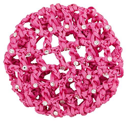 """tanzmuster Ballett Duttnetz / Knotennetz \""""Mila\"""", verziert mit Strasssteinen, mit Gummiband in pink - für den perfekten Halt des Ballett Dutts und als süße Ergänzung für jedes Ballettoutfit"""