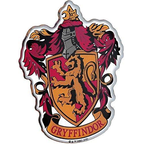 Fan Emblems Gryffindor Crest Auto Aufkleber gewölbt/Multicolor/Chrome Finish, Harry Potter Automotive Emblem gilt leicht für Autos, LKWs, Motorräder, Laptops, Handys, Windows, fast alles