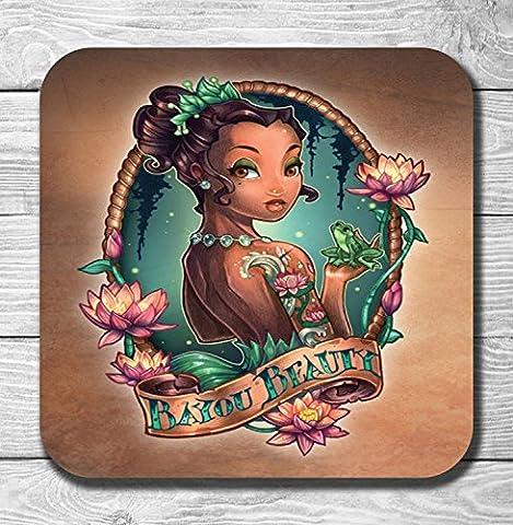 Punk Disney Princess And The Frog Tiana Gift Wooden Drinks Coaster / Mat