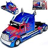 Jada Western Star 5700 XE Phantom Optimus Prime Blau Transformers 5 The Last Knight 1/24 Modell Auto