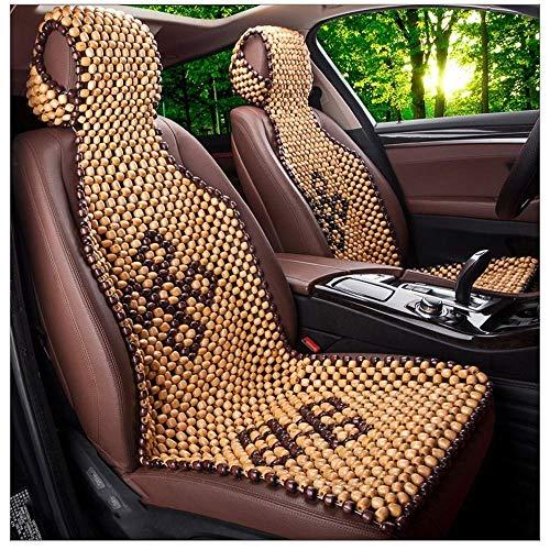 GZTYLQQ Auto Sitzkissen atmungsaktiv kühlen Sommer Holzperlen einstellbar Auto Sitzkissen abnehmbare Kissen Müdigkeit für Auto LKW zu entlasten -