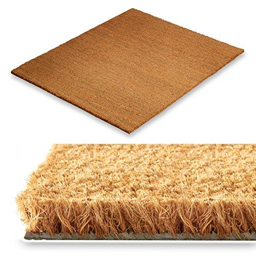 Kokos Fußmatte - Testnote 1,5 - natürlicher Schmutzstopper für Innen- und Aussenbereiche, 17 mm, drei Größen (40x60cm)