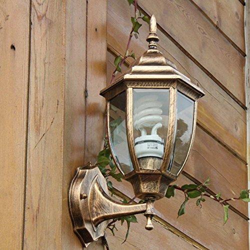 VanMe Vintage Bronze Wasserfeste Außenhülle Wandlaterne Outdoor Wandleuchte Aussen Wandleuchte Balkon Lampen (Swing Arm Wand Lampe Bronze)