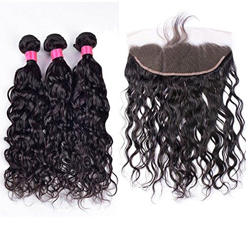 """YanT HAIR Haarverlängerung, 12 14 16&lace frontal 10"""", , natürlicher farbton, Stück: 1"""