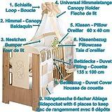 Bär creme Baby Kinderzimmer Komplett Möbelset mit Bett 120×60 + Matratze, Wickelkommode mit Ablage und 9 Teile Bettwäsche XXL Set - 5