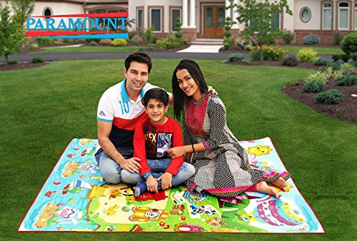 Paramount 100% Waterproof, Anti Skid ,Double Sided Baby Play & Crawl Mat (6'X3' Feet)