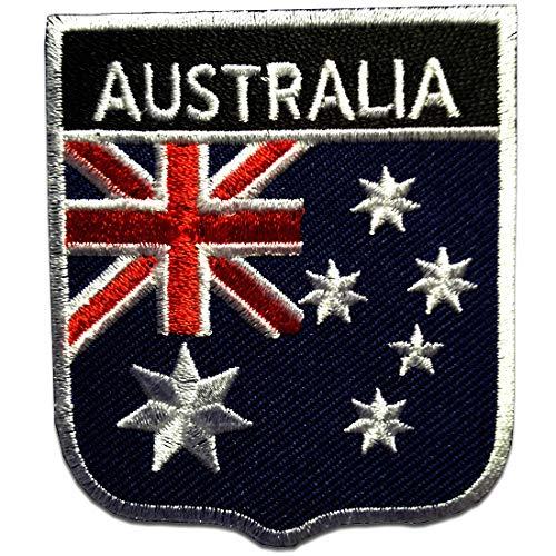 Aufnäher/Bügelbild - Australien Flagge Fahne - blau - 6,5 x 7,5 cm - Patch Aufbügler Applikationen zum aufbügeln Applikation Patches Flicken
