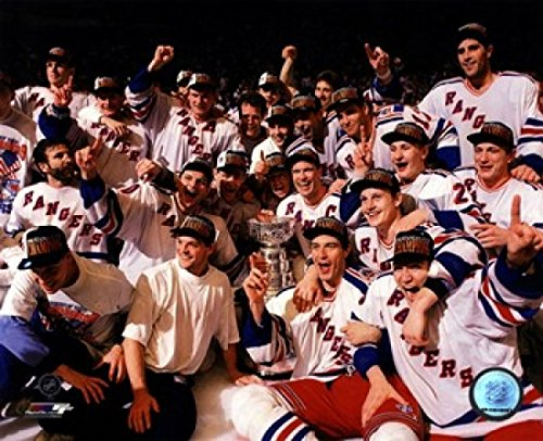 New York Rangers 1994 Den Stanley Cup (The New York Rangers 1994 Stanley Cup Champions Team Celebration Photo Print (27,94 x 35,56 cm))