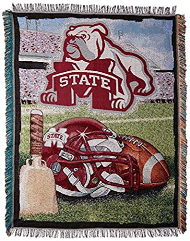 NCAA Mississippi State Bulldogs 48-Inch-by-60-Inch Acrylic Tapestry Throw