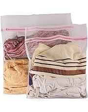 DEKELIN 2010 Microfiber Protective Laundry Bag (Medium and Large, White) - Set of 2