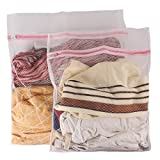 #4: Deklin 2010 Protective Washing Laundry Bag, Set of 2 (1 Medium & 1 Large)(White)