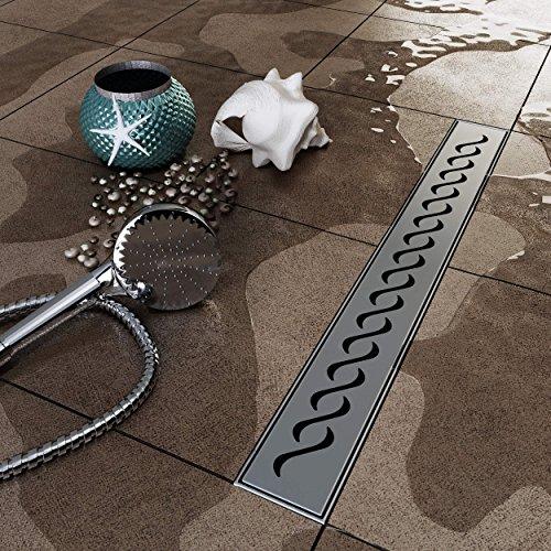 vilstein Hux Home con sifón suelo y de ducha desagüe para, 90cm...