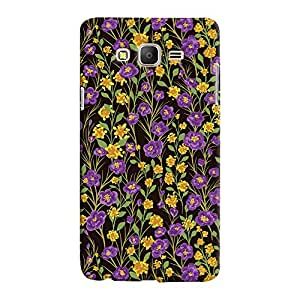 Mrigank Samsung Galaxy ON5 Mobile Phone Back Cover With Purple and Yellow Flower - Durable Matte Finish Hard Plastic Slim Case